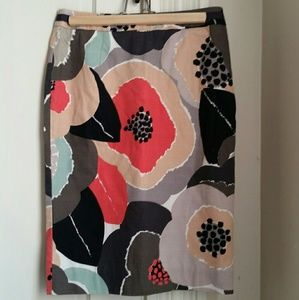 Boden floral pencil skirt - size 6R